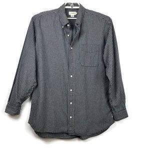 J. Crew Gingham Check Shirt Large Tall Button Down